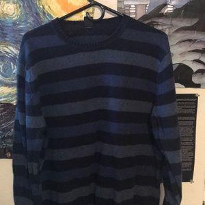 L GAP sweater, light and dark blue stripes